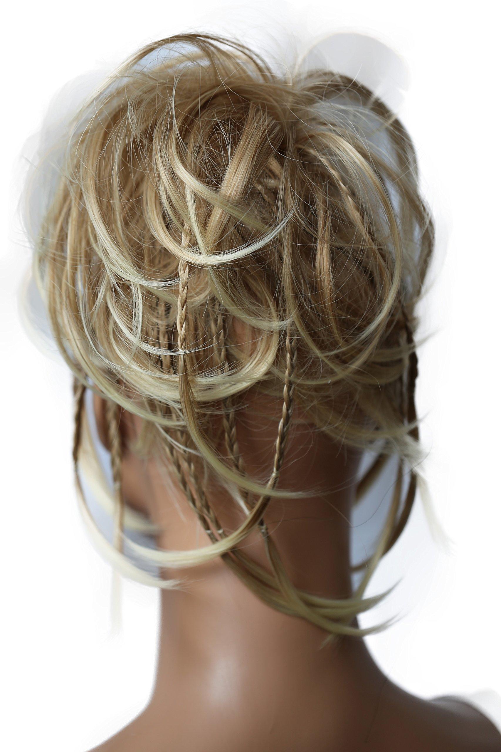 PRETTYSHOP Hairpiece Hair Rubber Scrunchie Scrunchy Updos VOLUMINOUS Wavy Messy Bun blonde mix # 28T613 G11D by Prettyshop Hairpiece