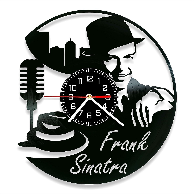 Frank Sinatra Vinyl Clock, Frank Sinatra Wall Clock 12 inch (30 cm), Original Gifts, The Best Home Decorations, Unique Art Decor, Original Idea for Home Decor