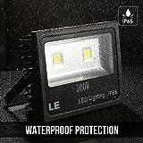 LE Outdoor LED Flood Light, 100W 10150LM, IP65