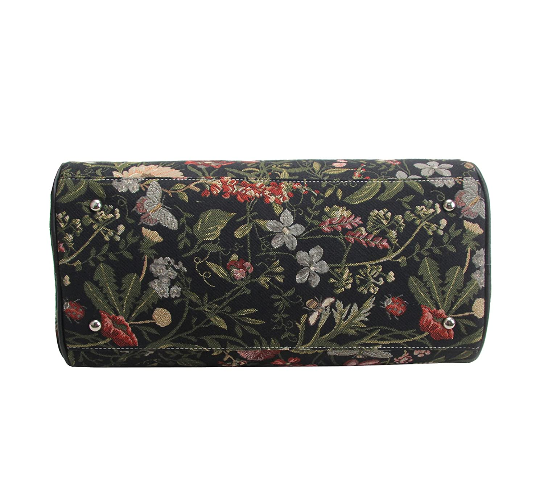 Signare sac de voyage weekend en toile tapisserie mode femme Matin Jardin Noir