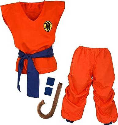 Niños Disfraz para Bola del Dragón Son Goku Traje de Entrenamiento Ropa para niños y jóvenes: Amazon.es: Ropa y accesorios