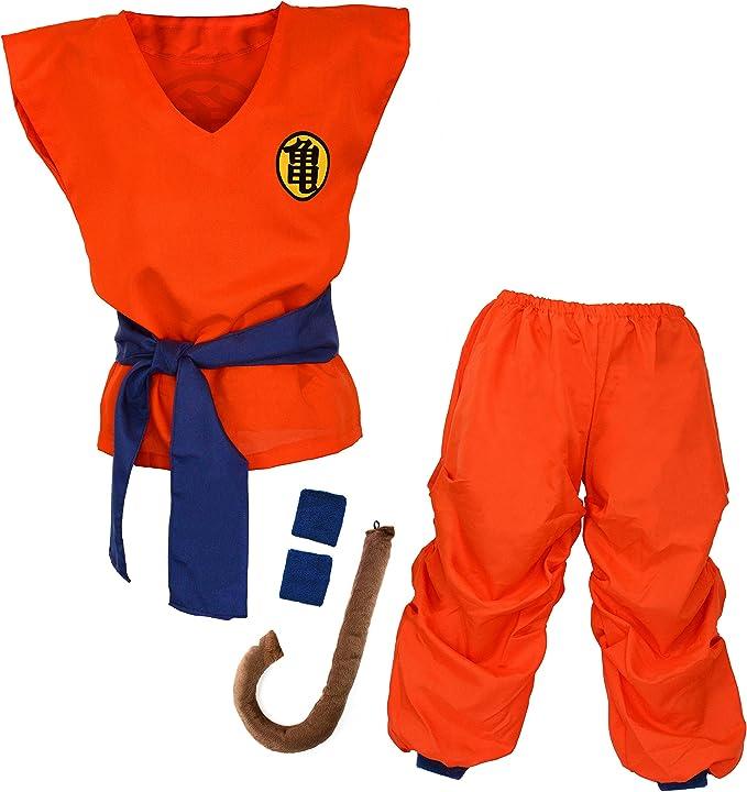 Niños Disfraz para Bola del Dragón Son Goku Traje de Entrenamiento ...