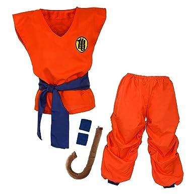 Niños Disfraz para Bola del Dragón Son Goku Traje de Entrenamiento Ropa para niños y jóvenes