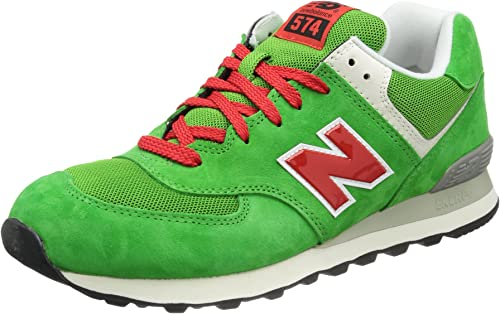 New Balance ML574 D UV Green Red 45: Amazon.co.uk: Shoes & Bags
