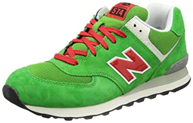 new concept 08770 3b47e New Balance ML574 D UV Green Red 45: Amazon.co.uk: Shoes & Bags