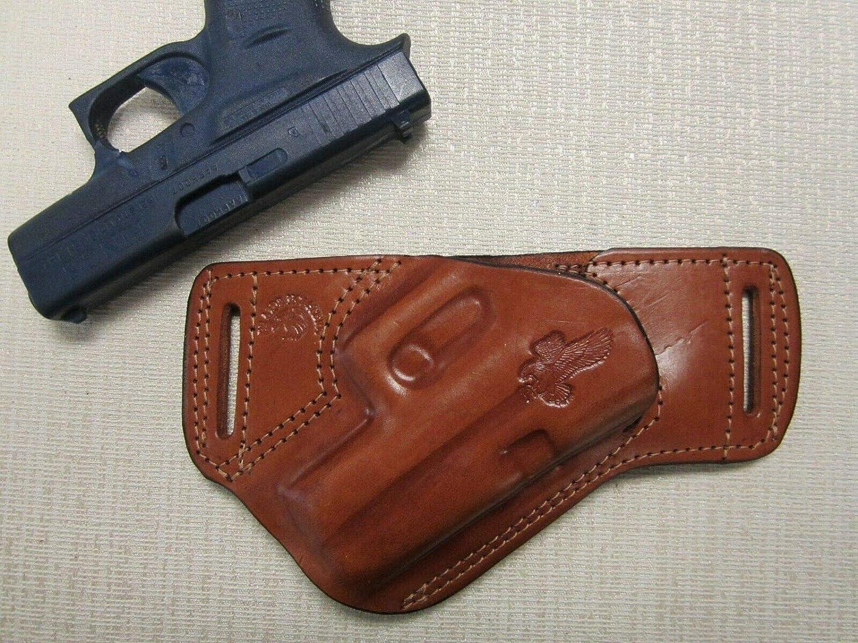 LEDER SCHULTERHOLSTER Schwarz f/ür Glock 43