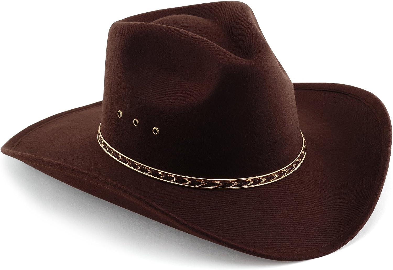 Western Pinch Front Faux Felt Cowboy Hat