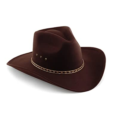 600fa108aaf Western Pinch Front Faux Felt Cowboy Hat at Amazon Men s Clothing store