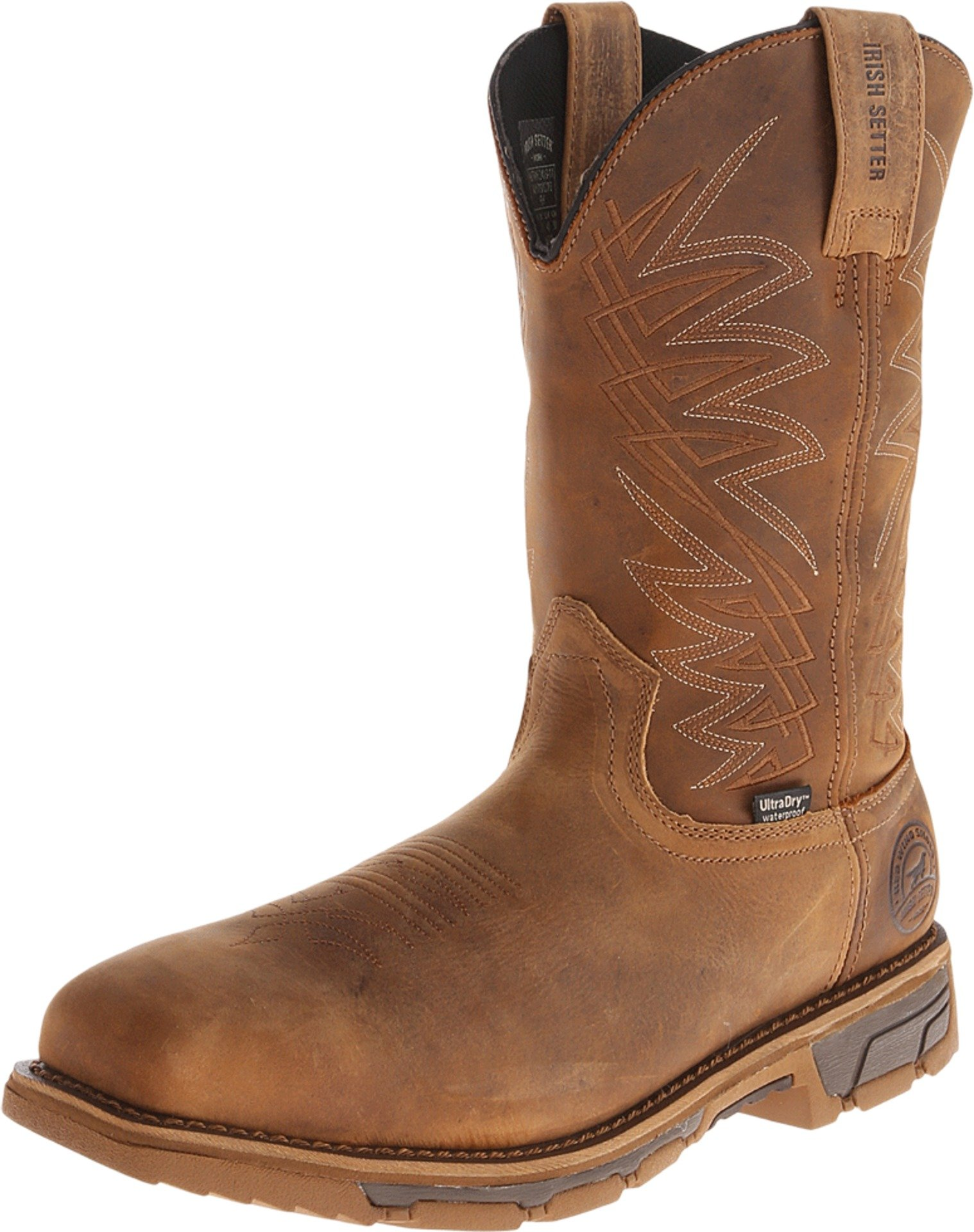 Irish Setter Work Men's 83912 Marshall 11'' Pull-On Steel Toe Waterproof Work Boot,Brown,9 D US by Irish Setter