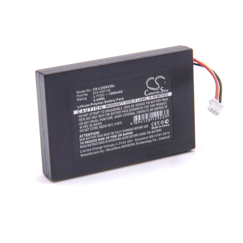 vhbw Litio Polímero Batería 1200mAh (3.7V) para Auriculares inalámbricos Cascos como Logitech 533-000132: Amazon.es: Electrónica