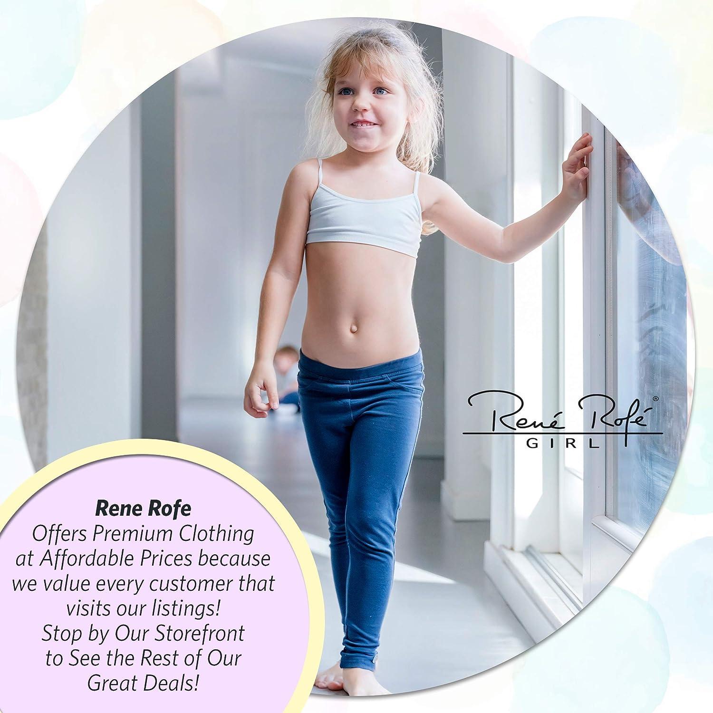 Rene Rofe Girls Nylon//Spandex Unpadded Lightweight Seamless Training Bra 3 Pack