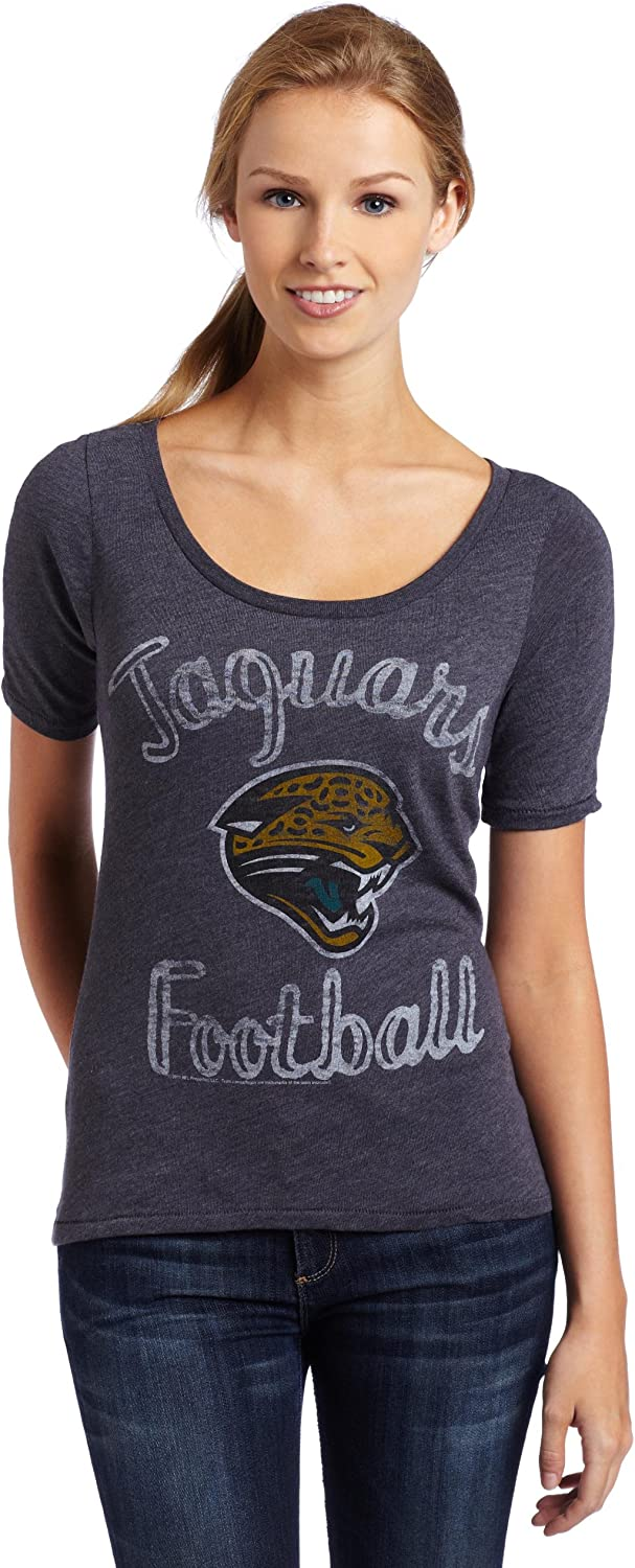 NFL Jacksonville Jaguars Heather Vintage Thermal Sleeve Athletic Tee Women's