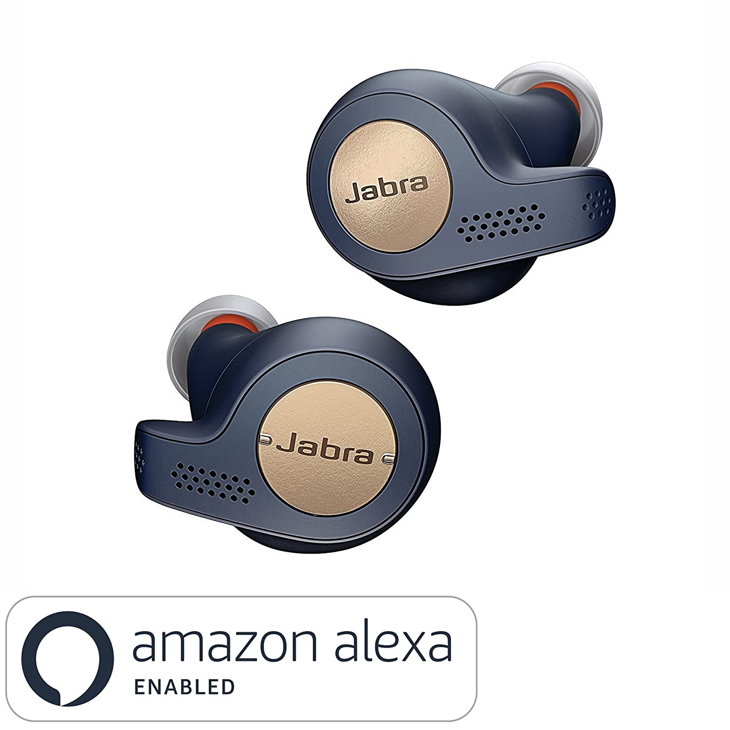 Jabra Elite Active 65t Alexa Enabled True Wireless Sports Earbuds with Charging Case - Copper Blue