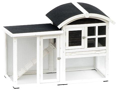 AK for Pets conejeras Piazza de 2 pisos, 130 x 62 x 90.5 cm
