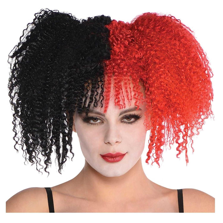 Harlequin Honey Wig Ladies Halloween Fancy Dress Circus Jester Adults Costume
