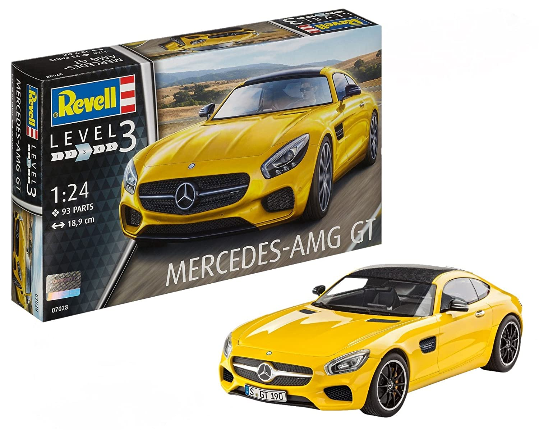 Revell Mercedes AMG GT Escala 1/24-Revell RE07028, Color Amarillo, 18,9 cm de Largo (07028): Amazon.es: Juguetes y juegos