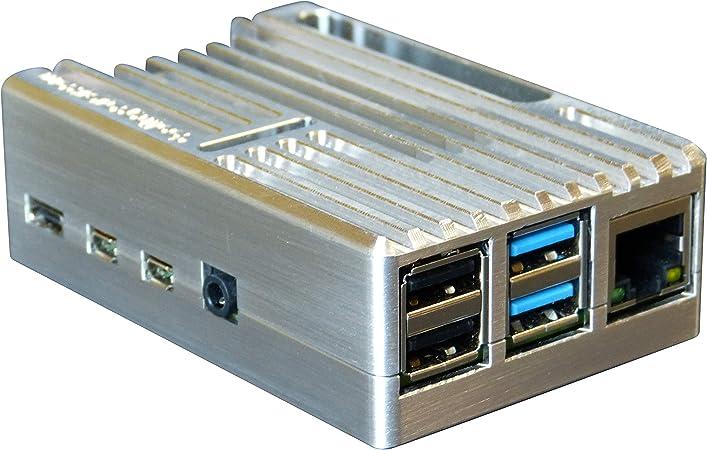 MANOUII Raspberry Pi 4 - Carcasa pasiva de aluminio y metal para ...