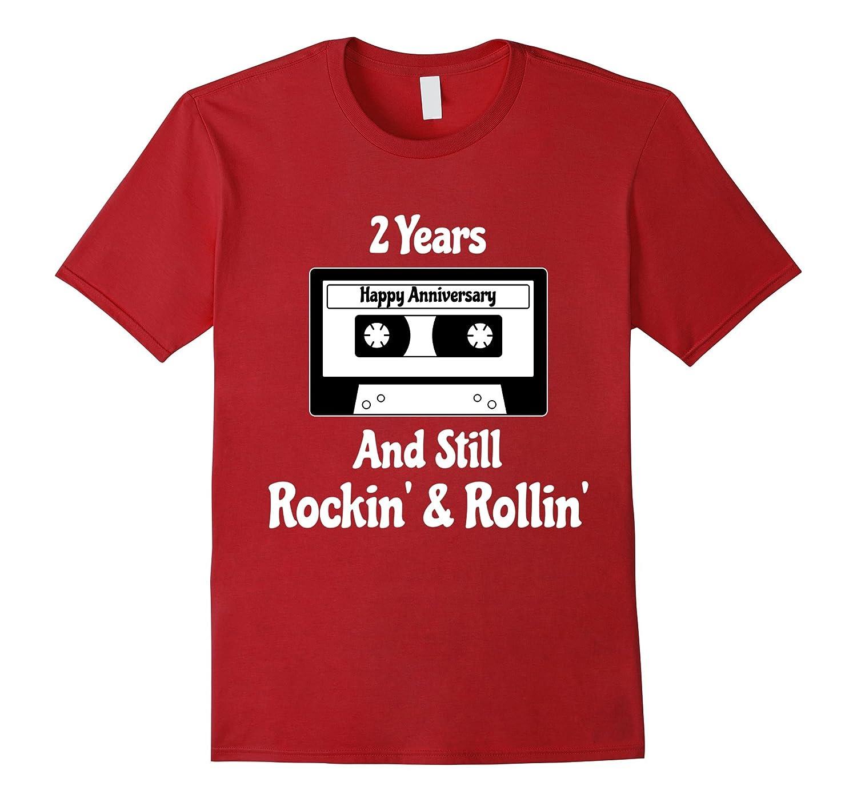 2nd Wedding Anniversary 2 Years Tshirt Cassette Tape Rock Th Teehelen