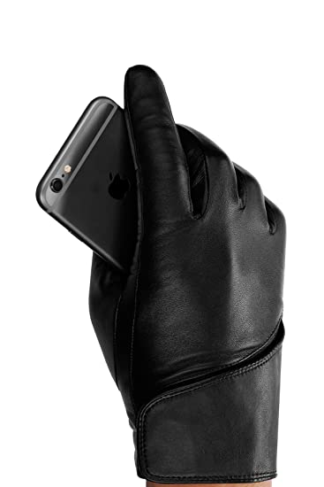 mujjo guanti  Mujjo Leather Touchscreen Gloves at Amazon Men's Clothing store: