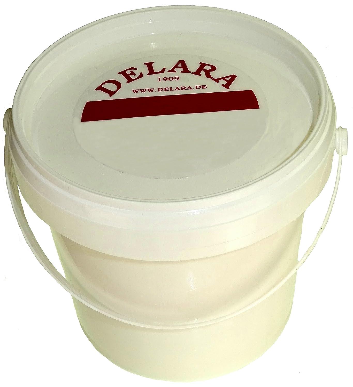 DELARA Bálsamo para cuero con yoyoba y cera de abejas en cubos de 500 ml, Color negro - Made in Germany 5435-03
