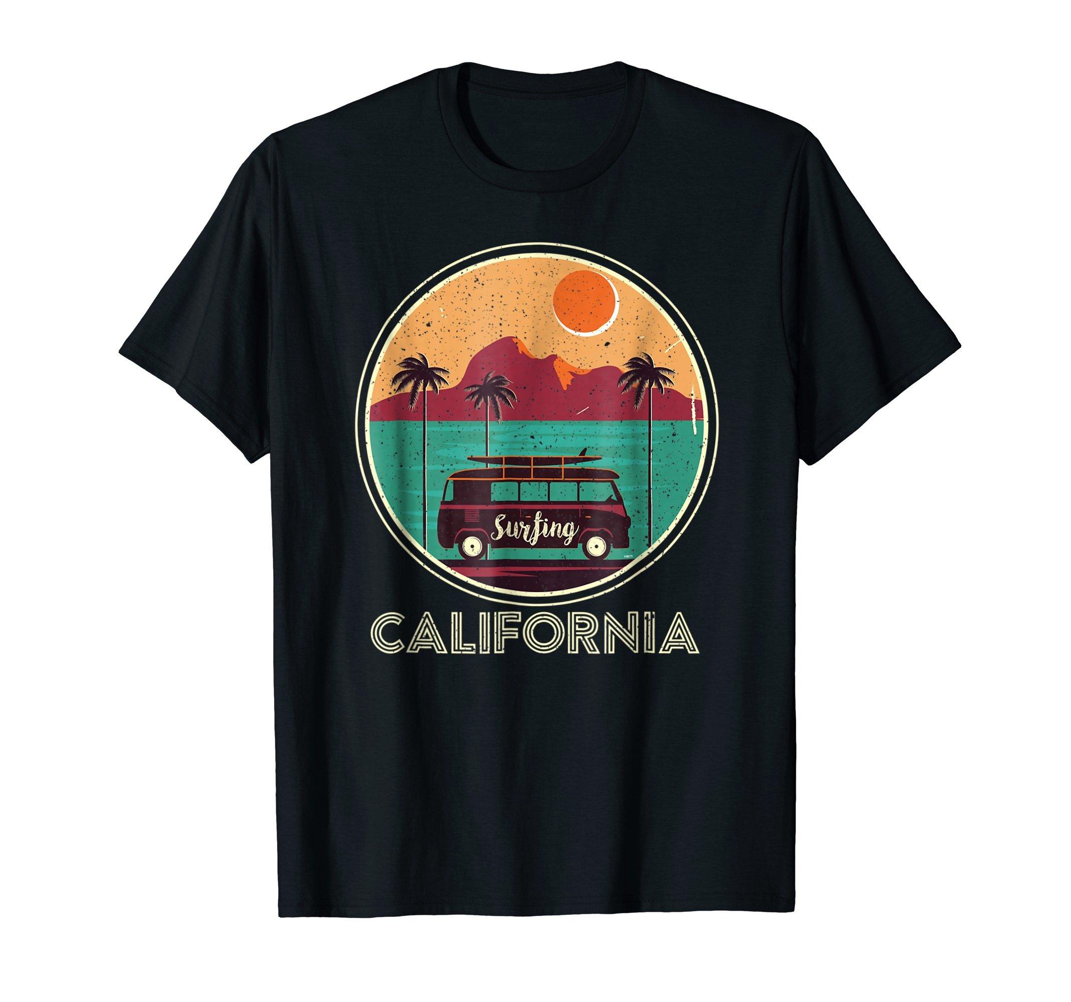Surfing-California-Van-Retro-Vintage-T-Shirt-Gift-Tee-Shirt