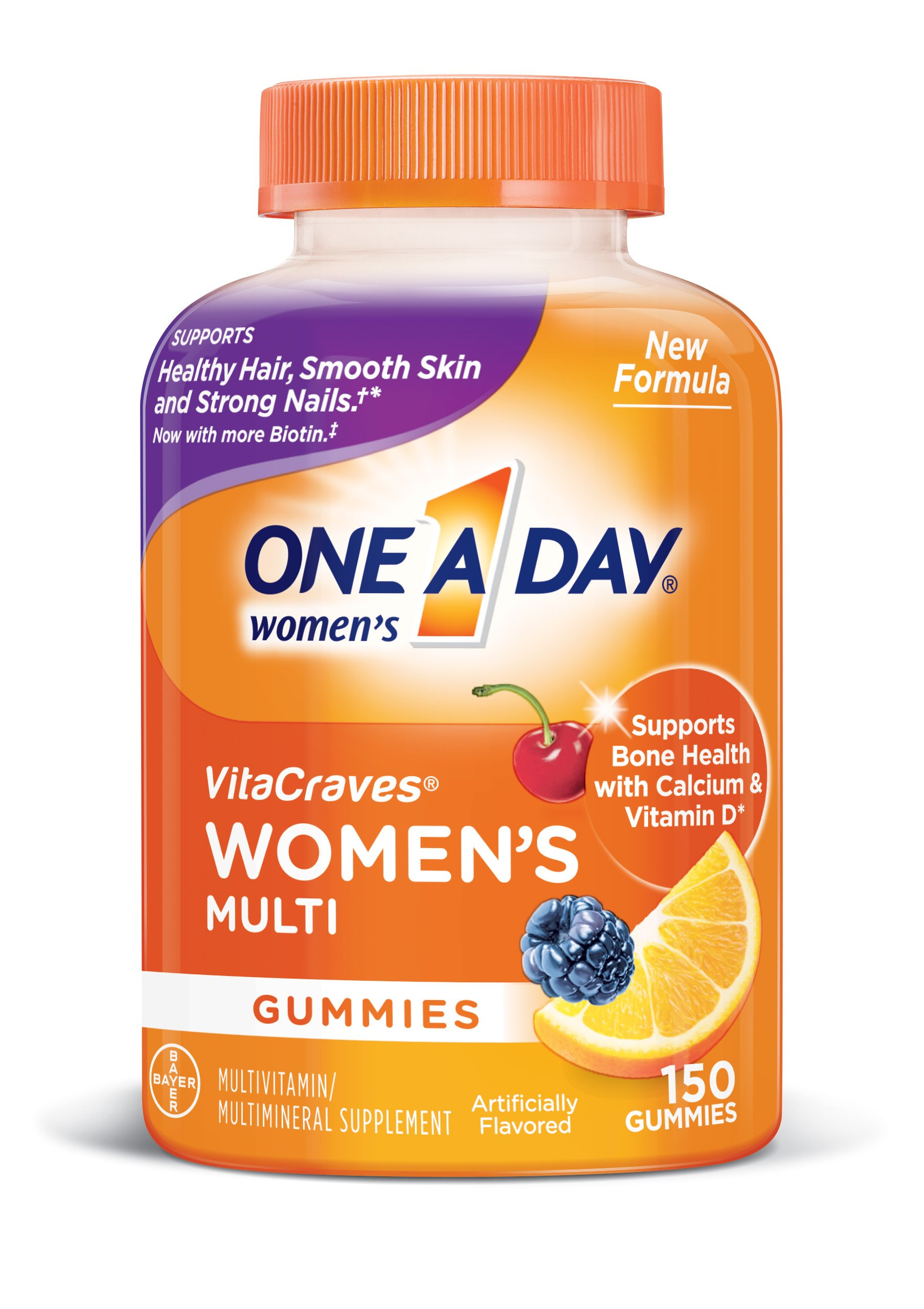 One A Day Womens VitaCraves Multivitamin Gummies, 150 Count