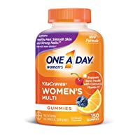 One A Day Women's VitaCraves Multivitamin Gummies, Supplement with Vitamins A, C, E, B6, B12, Calcium, and Vitamin D, 150 count
