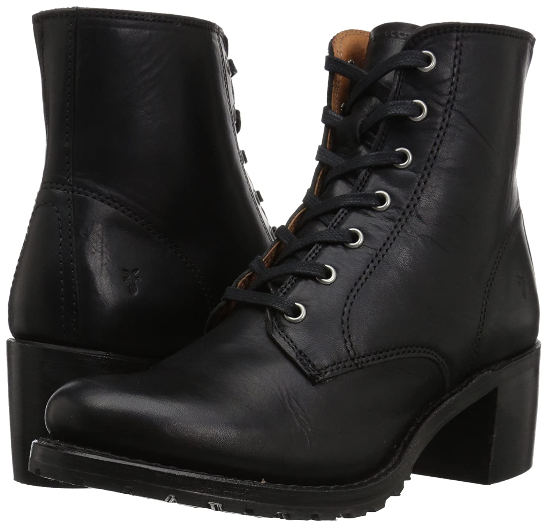 FRYE Women's Sabrina 6g Lace up Boot B06X8WMLV4 9 B(M) US|Black