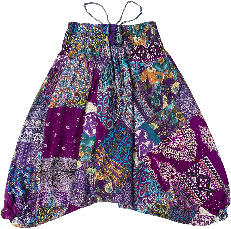 Amazon.com: LOFBAZ Cute Patchwork Harem Pants for Girls Boys ...
