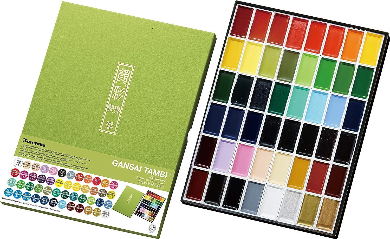 Acuerelas Kuretake Gansai Tambi 48 Colores Japonesas