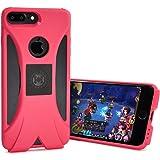 日本HANATORA花虎 HS6系列 手机游戏专用款iPhone7plus手机壳3D立体扩音效果+防止音波震手 苹果7P全包边防摔散热硅胶保护套 手游发烧友必备(iPhone7 Plus(5.5寸)红色)