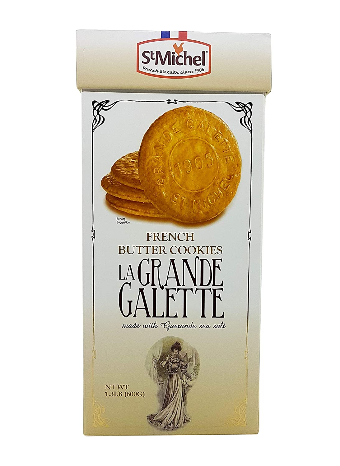 St Michel La Grande Galette French Butter Cookies Biscuits from France 1.3 LB