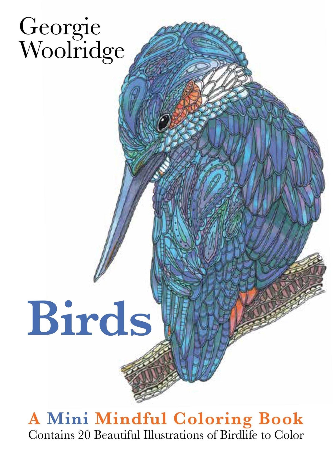 Download Birds: A Mini Mindful Coloring Book PDF