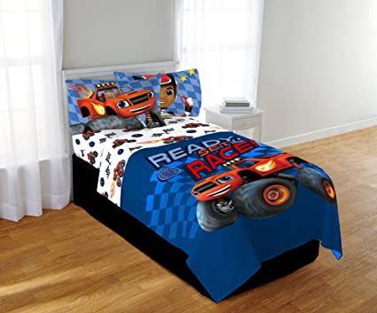 Blaze And The Monster Machines Comforter And Sheets Bedding Set (Full Size)