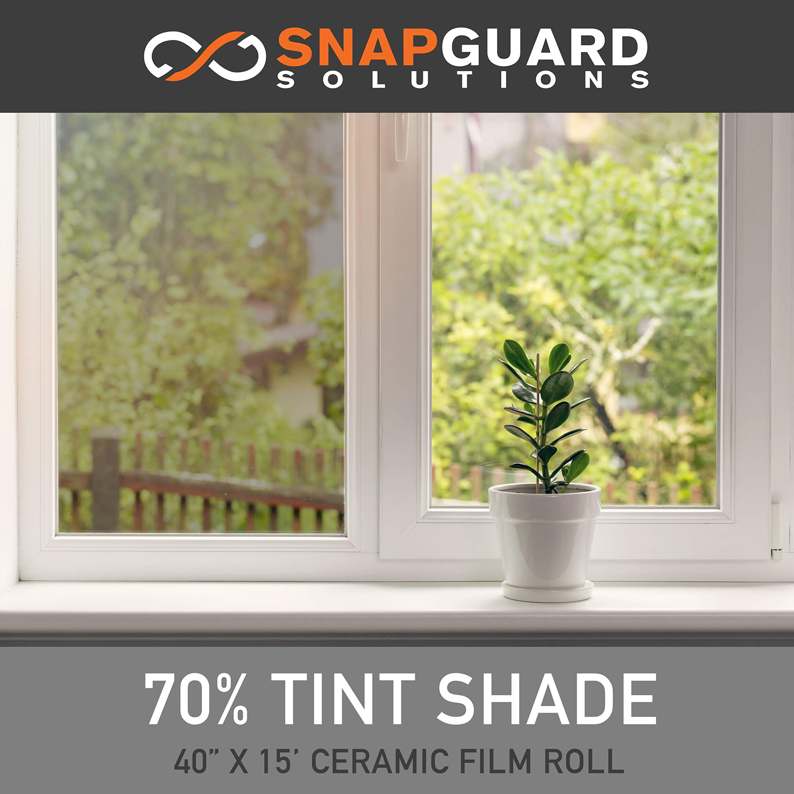 Snapguard Solutions - Ceramic Tint Film, Window Tint for Home (Blocks Up to 99% of UV/IRR Rays) 40'' x 15' Roll (70%) by Snapguard Solutions