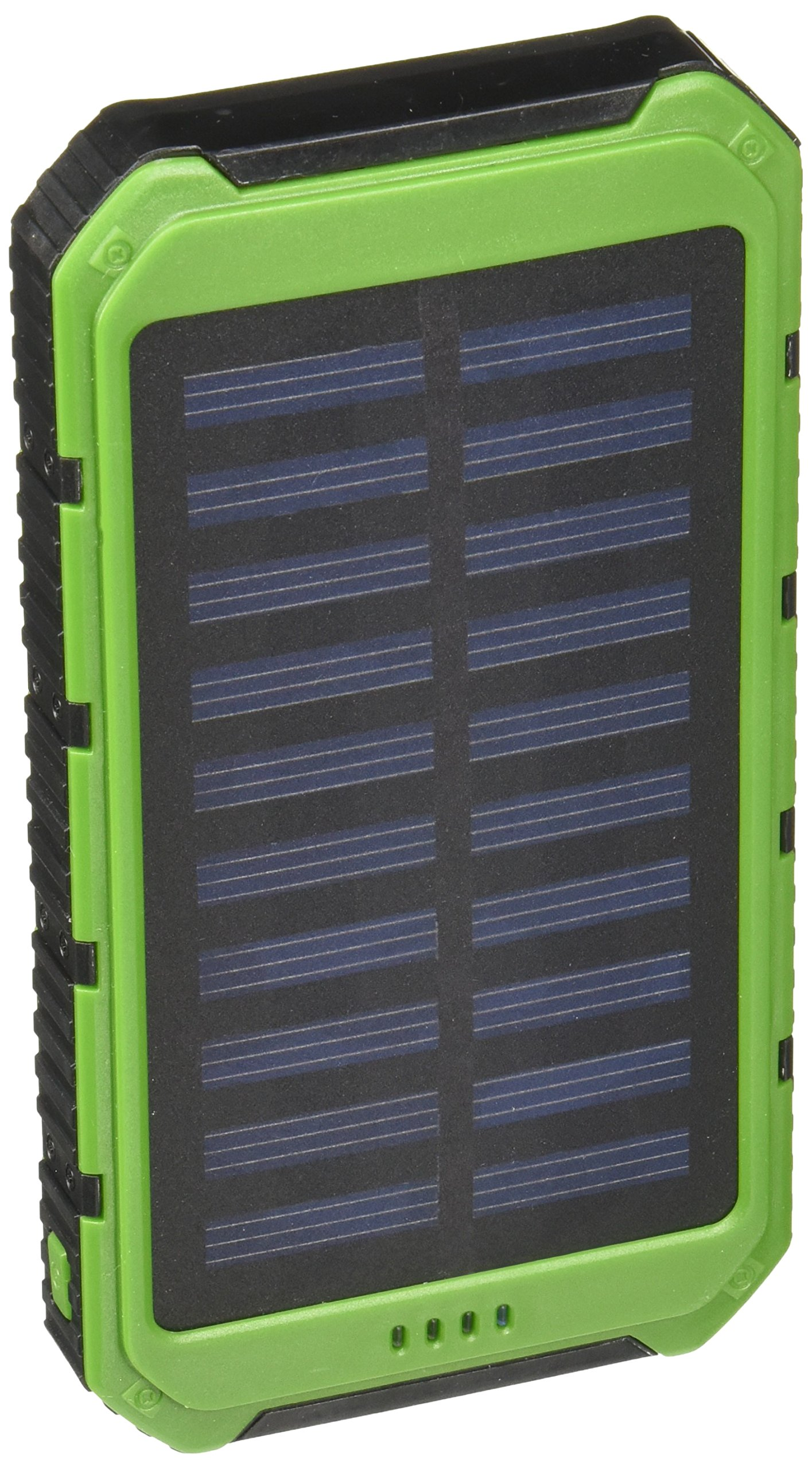 Solar Charger - Creative Edge(TM) Solar-5 Solar Panel 5000mAh Water/ Shock/ Dust Resistant Portable Backup Power Bank Dual USB output, Fits most USB-charged devices (Apple Lightning Adapter Included) by Creative Edge