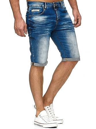 günstig kaufen rationelle Konstruktion Schuhe für billige Red Bridge Herren Jeans Shorts Kurze Hose Denim Bermuda Stretch Capri Basic  Blau Grau oder Weiß