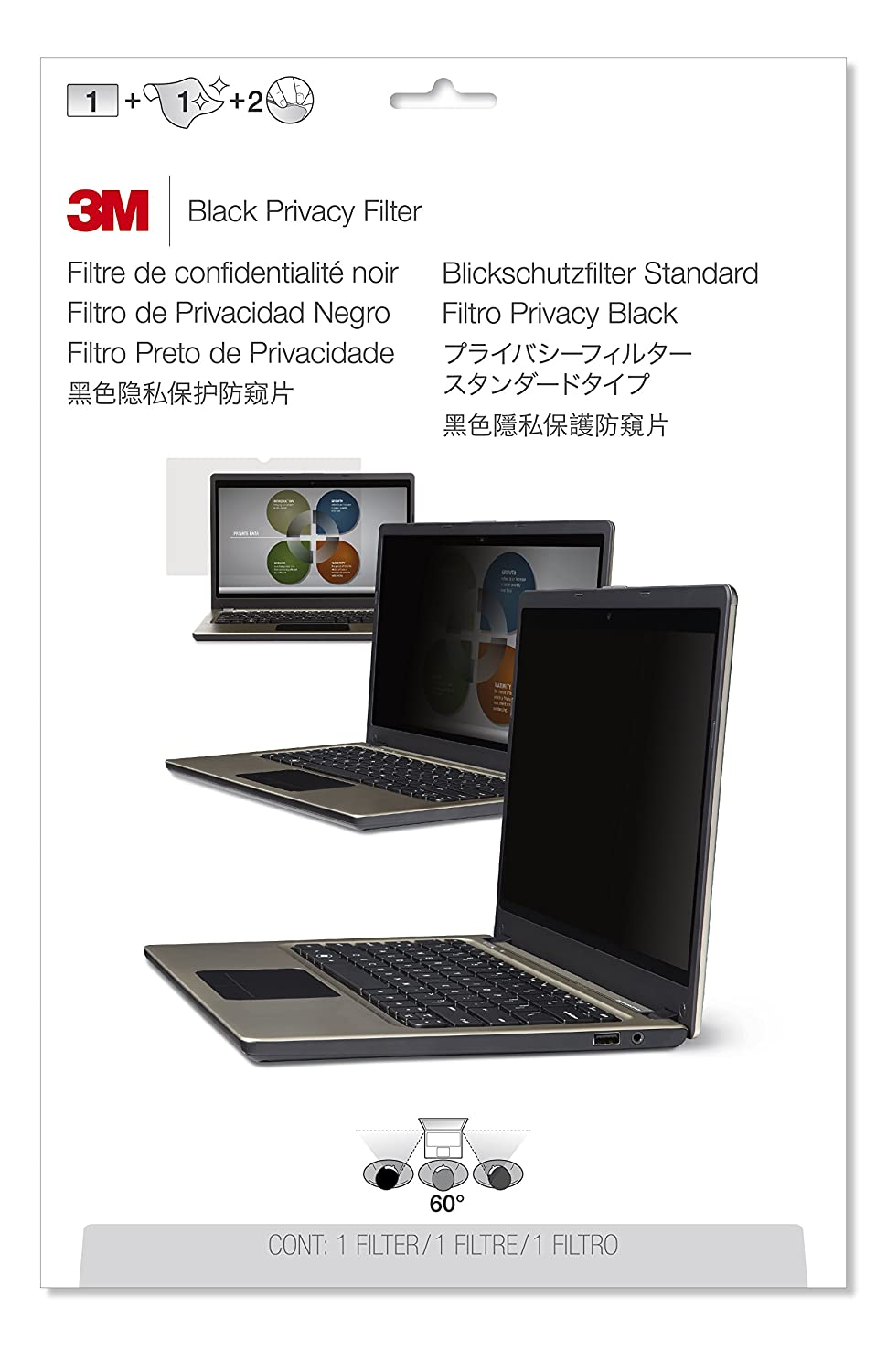 3M Privacy Filter for Lenovo ThinkPad T580 15.6