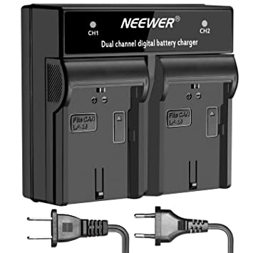 Neewer Cargador Batería Digital Doble Canal LED para Canon ...