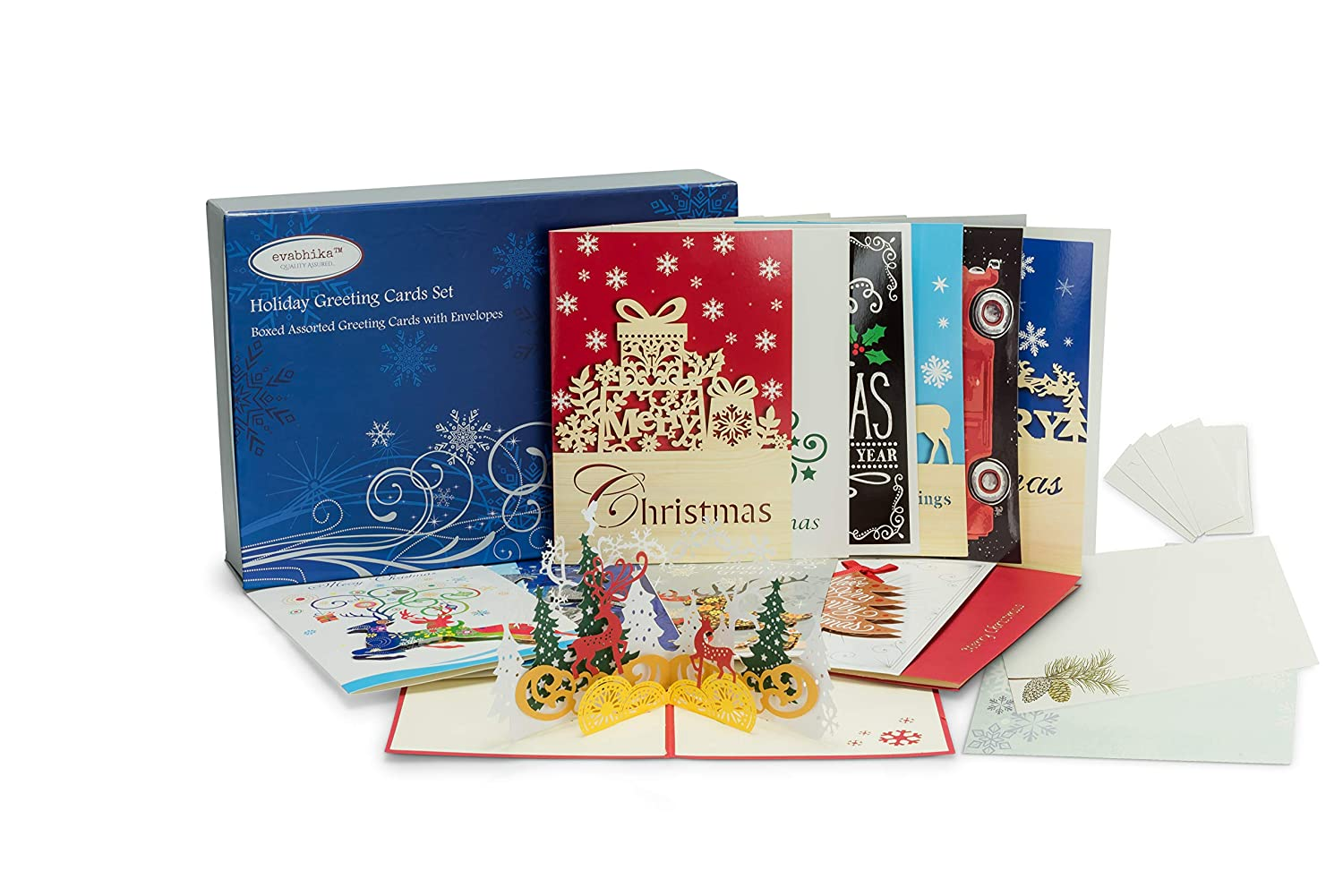 Amazon.com : 24 Christmas Cards with Envelopes | Boxed Greeting ...