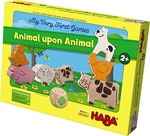 Haba My Very First Games Animal Upon Animal Wood Stacking Game Made In Germany