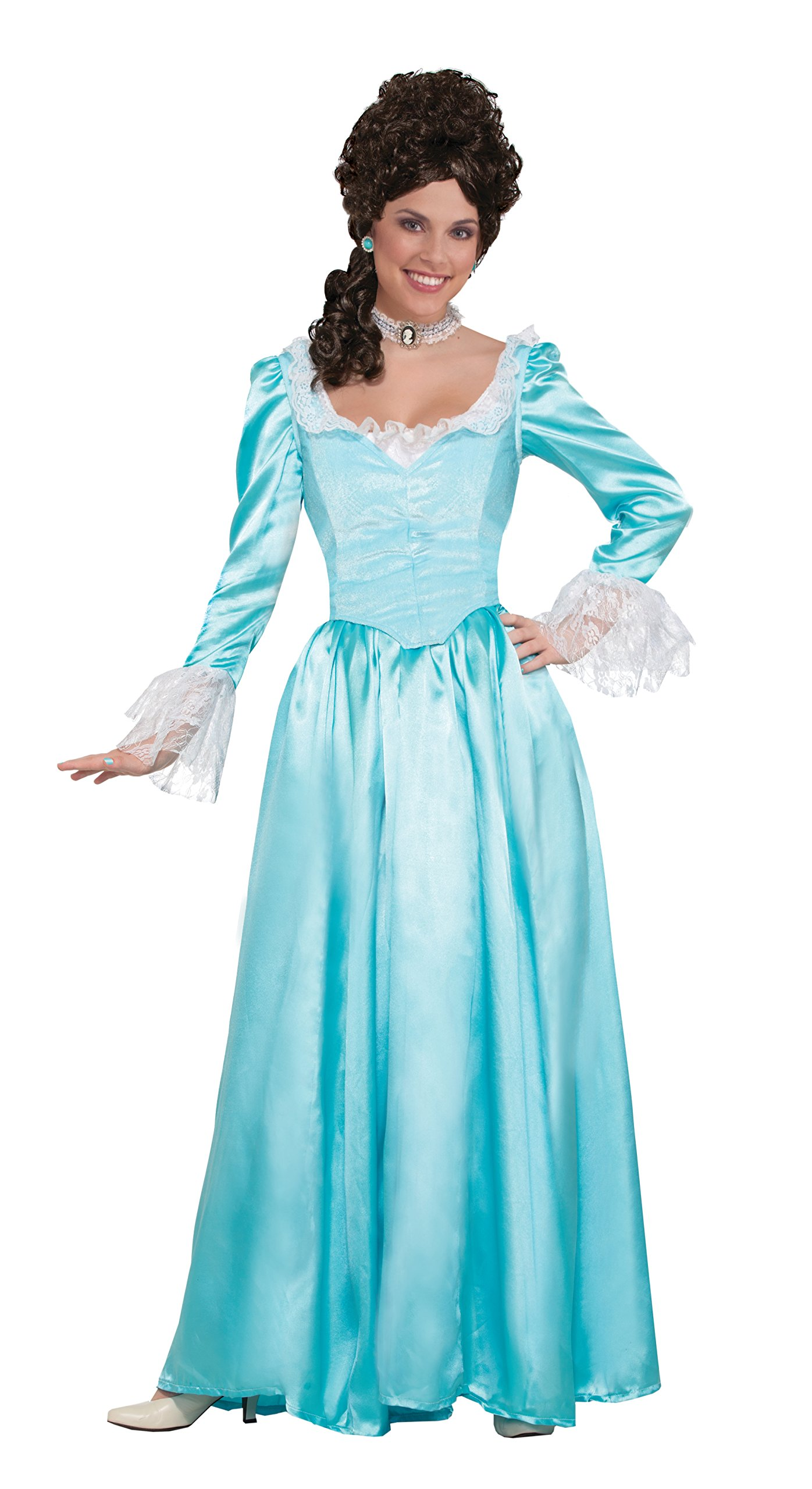 Forum Women's Colonial Lady Corset-Style Dress, Blue, M