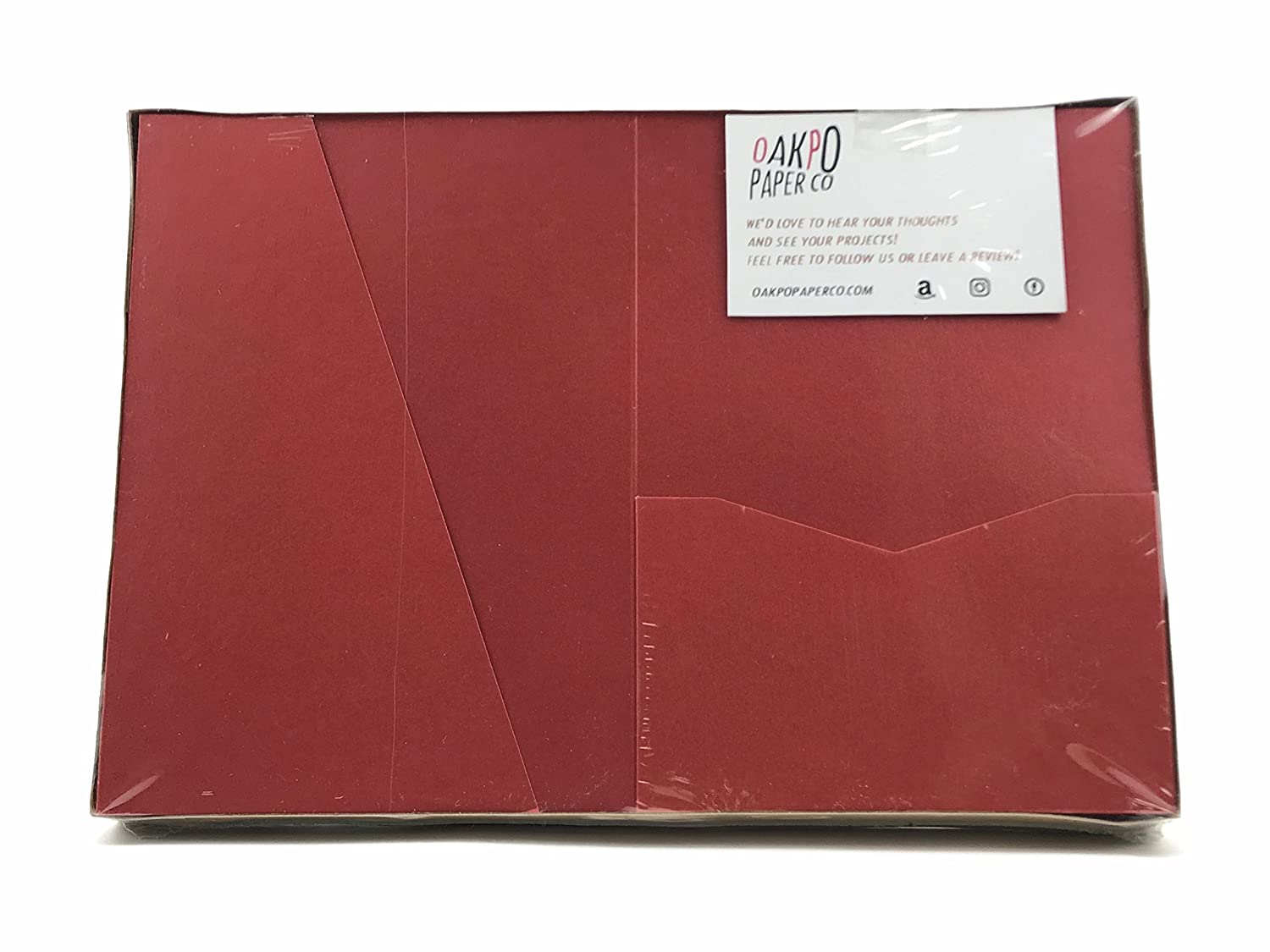 Amazon.com: Ruby Card Cover Pocket Trifold A7.5 for wedding ...