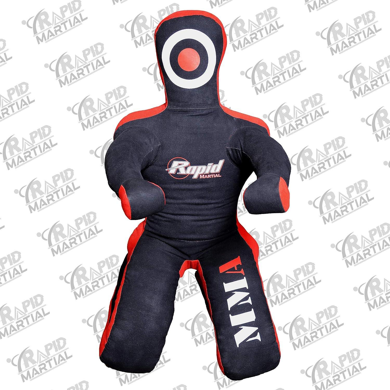 Kneeling UNFILLED 6 Ft Grappling Dummy Jiu Jitsu Martial Art BJJ Wrestling Dummy Punching Bag MMA Brazilian Jiu Jitsu Judo Youth Throwing Boxing Dummies