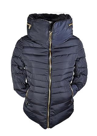 Manteau doudoune bleu femme
