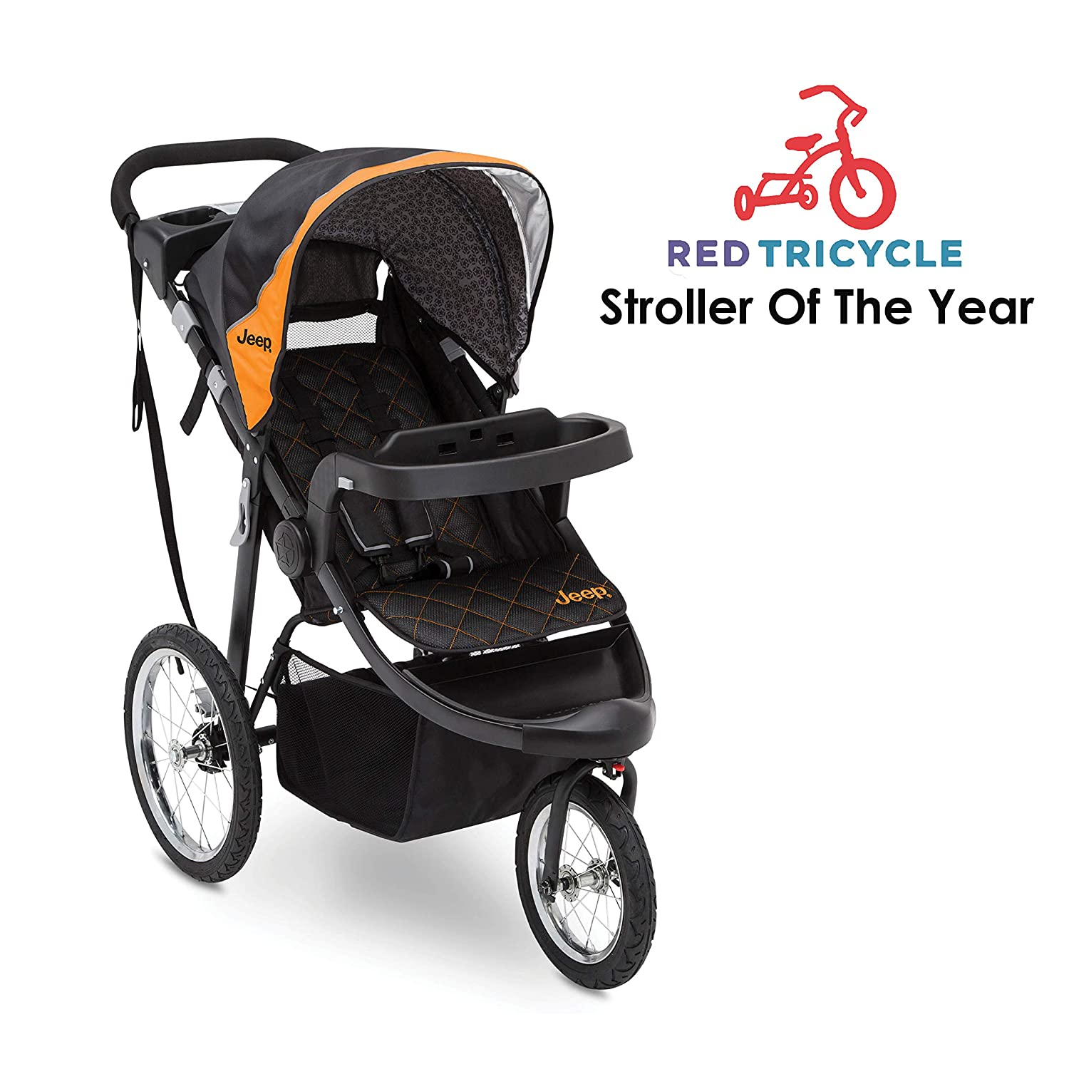 Jeep Deluxe Patriot Open Trails Jogger by Delta Children Berry Tracks