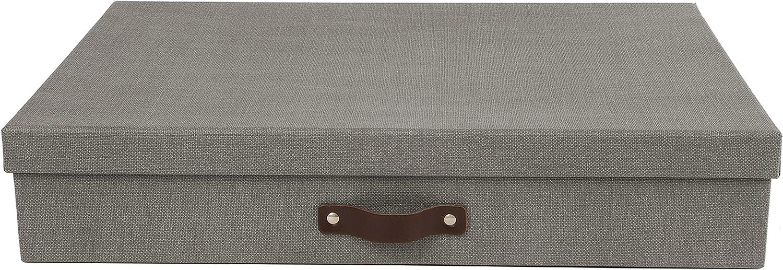 Bigso Sverker Canvas Paper Laminate Art Storage Box, Grey