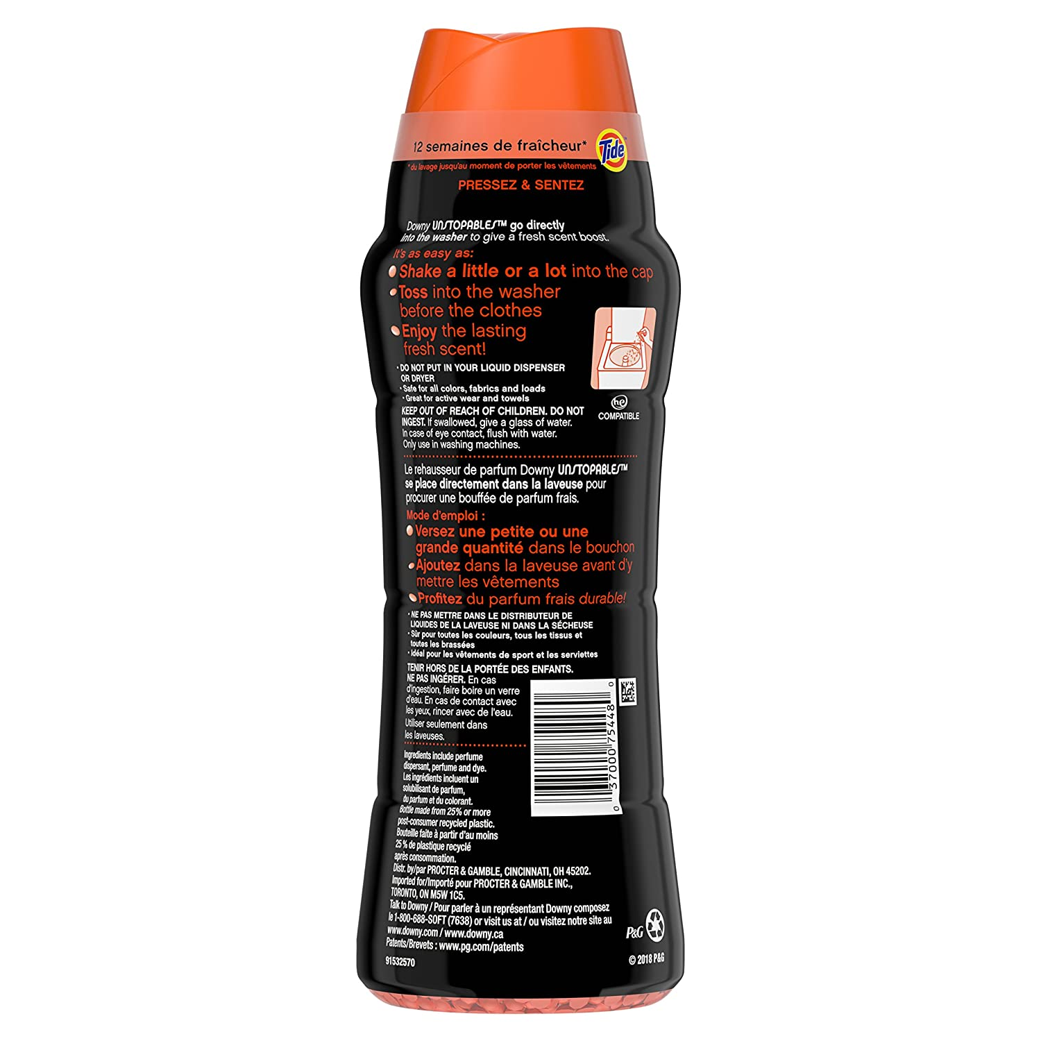 327a26e6efbd21 Amazon.com: Downy Unstopables In-Wash Scent Booster Beads with Tide ...