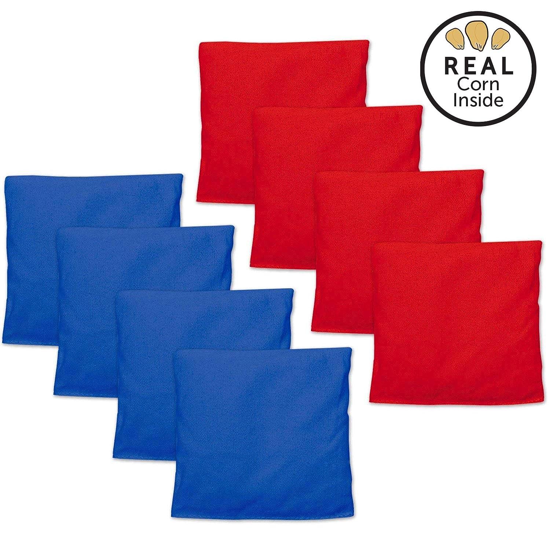 Play Platoon コーンホールバッグ コーンホールバッグ コーンホールゲーム用ビーンバッグ8個セット 7色の組み合わせ B07H5P8M2C レッド & ブルー レッド & ブルー
