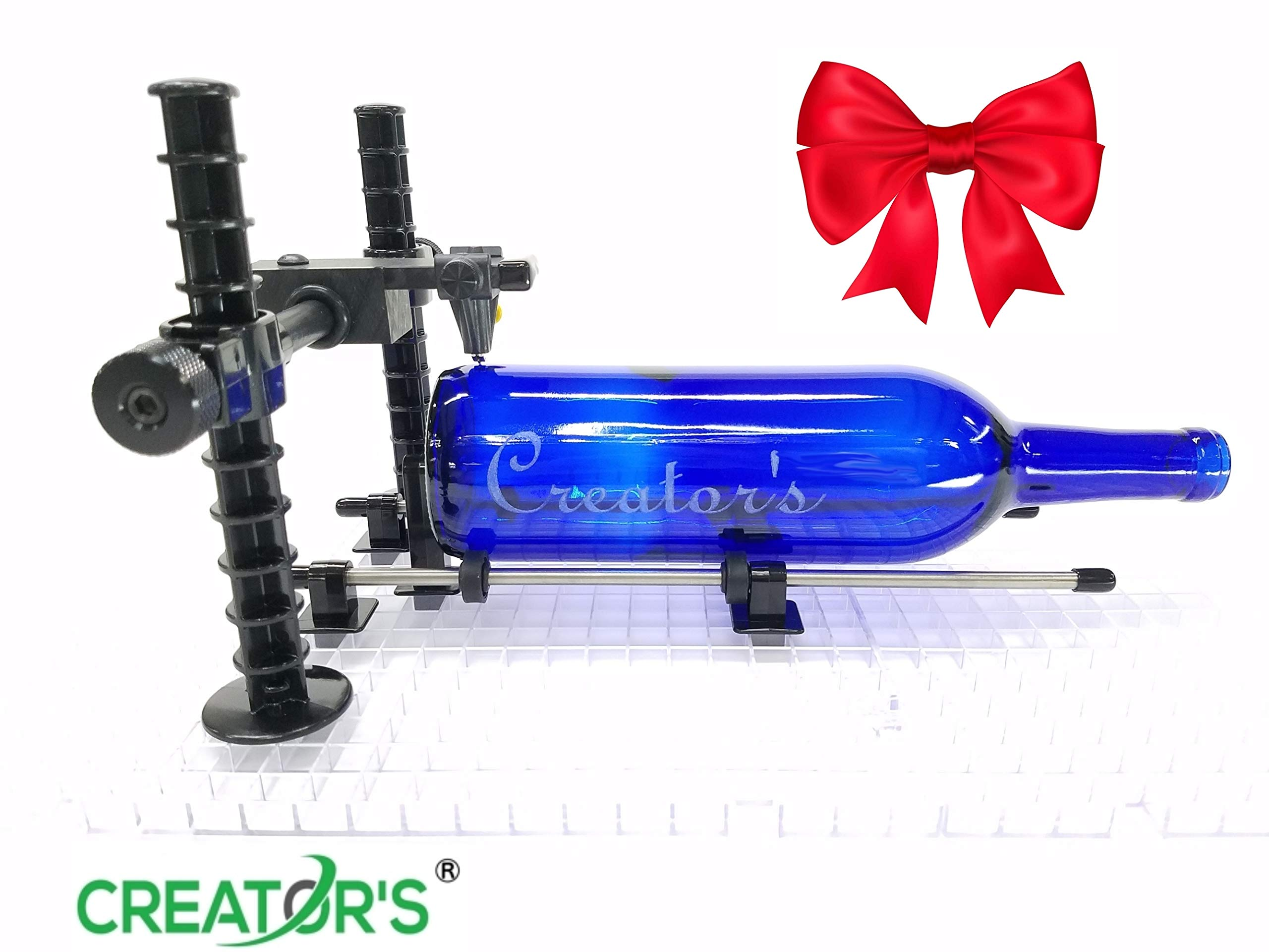 Creator's Over-The-TOP Advanced Artist's Glass Bottle Cutter - Precision Designed Professional Instrument - Cut Beer, Wine Bottles, Bottle Necks, and Neck Contours - Born and Made in The USA by Creator's